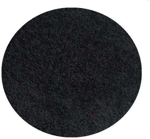 Koeckritz Area Rug Size-7 Round Color-Black