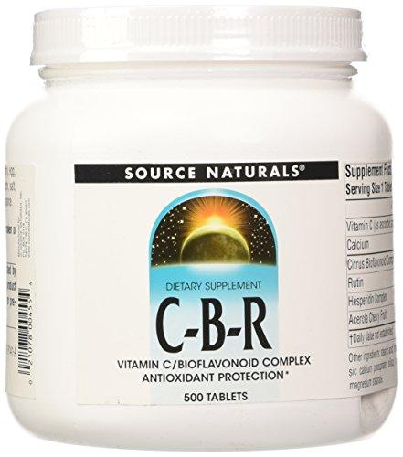 Source Naturals C-B-R Vitamin C/Bioflavonoid Complex, Antioxidant Protection, 500 Tablets