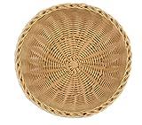 New Star Solid Polypropylene Hand Woven Food Basket, Set of 12, Natural