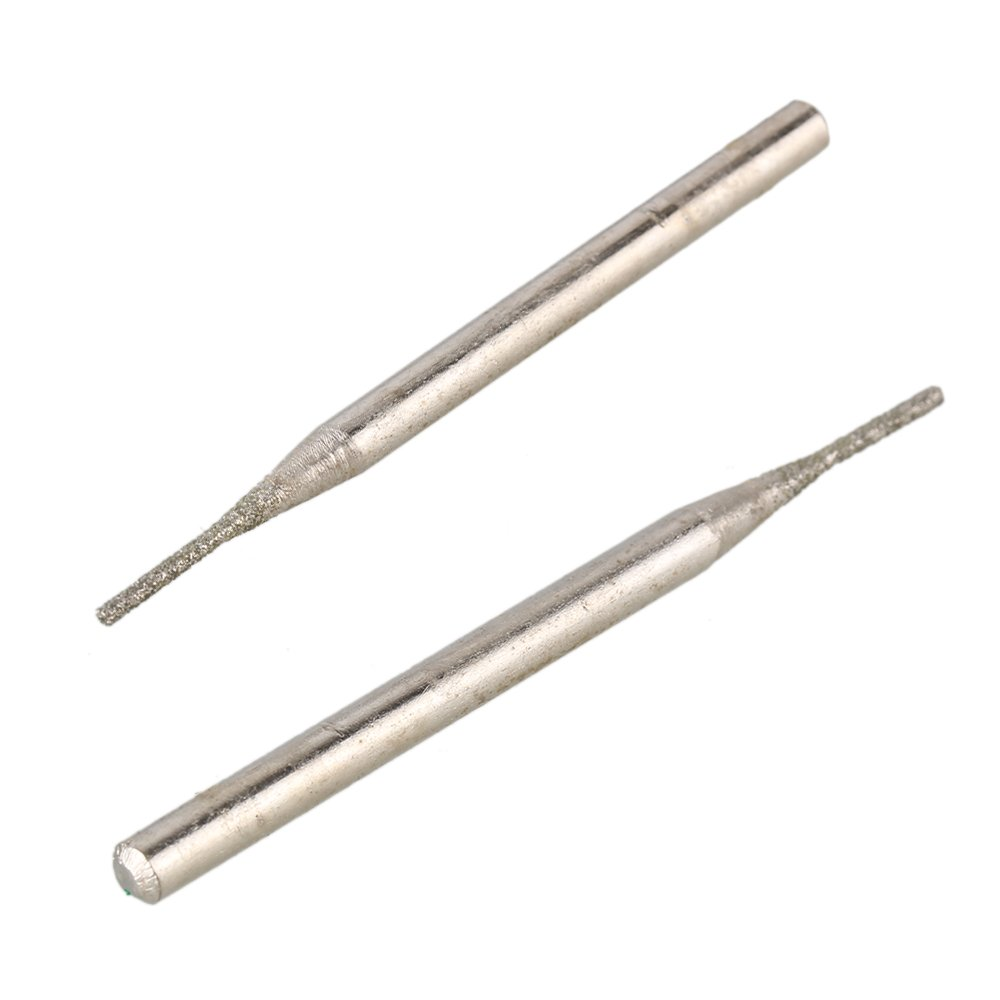 Yibuy 30/x Diamant Glas-Fr/ässtifte Bits Bohrer Gravur Carving Rotary Tool 1/mm Cylindrial