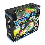 Mindscope Twister Tracks Neon Glow in the Dark 221 Piece (11 feet) of Flexible Assembly Track Race Series