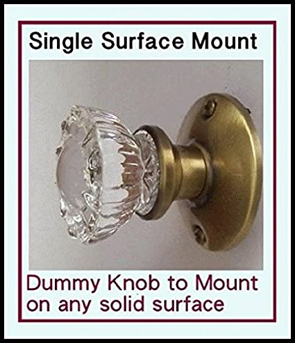 High Quality Crystal Antique Replica Surface Mount Single Dummy/French Door Knob Set