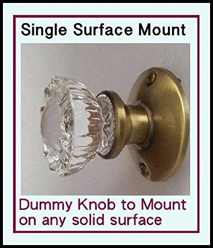 Crystal Antique Replica Surface Mount Single Dummy/French Door Knob (Crystal Dummy Knob Set)