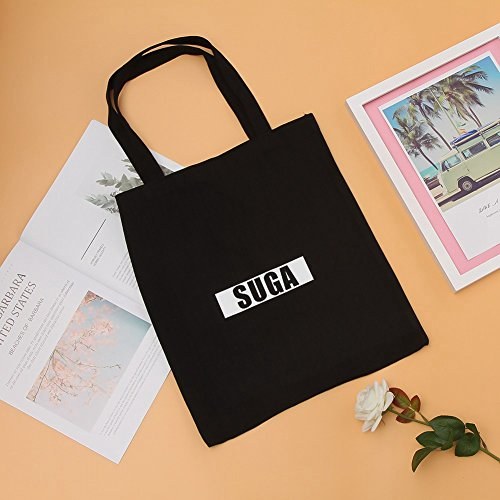 5 Canvas Messenger Shoulder Yuxareen Tote Bag Printed Bangtan Black BTS Kpop Bag Bag Boys Canvas qWwXxP1H6X