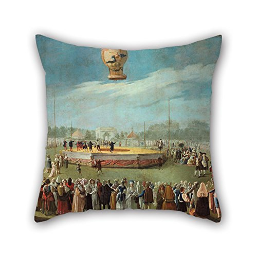 Loveloveu 20 X 20 Inches / 50 By 50 Cm Oil Painting Antonio Carnicero - Ascent Of A Balloon In The Presence Of The Court Of Charles IV Throw Pillow Covers ,twice Sides Ornament And Gift To Valentine (Valentines Day Marvel Box compare prices)