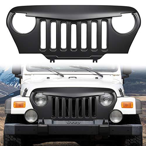 Danti matte black Gladiator Vader Front Grill Grid Grille Cover For Jeep Wrangler TJ & Unlimited 1997-2006