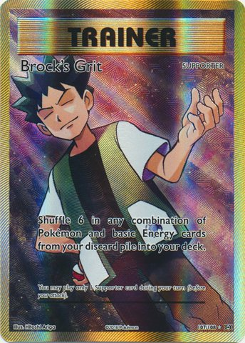 Pokemon - Brock39;s Grit (107/108) - XY Evolutions - Holo
