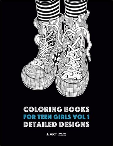 Coloring Books For Teen Girls Vol 1: Detailed Designs: Complex ...
