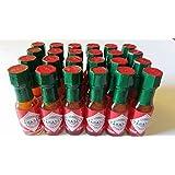 Mini Tabasco Original Pepper Sauce Bottles 1/8 Oz. - Box of 24 Little Real Glassbottles by TABASCO brand