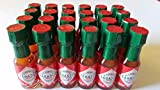 Mini Tabasco Original Pepper Sauce Bottles 1/8 Oz. - Box of 24 Little Real Glassbottles by TABASCO brand