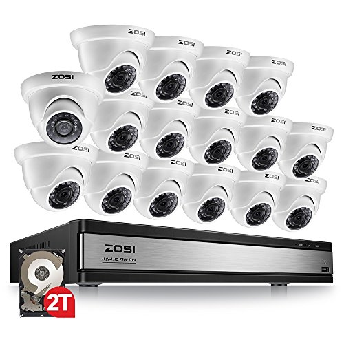 ZOSI 720p 16 Channel HD Security Camera System,16 Channel