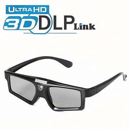 HUWAI 3D DLP Link Gafas Obturador Activo Recargable Ultra-Clear HD ...