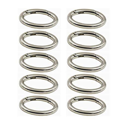 (WEICHUAN 10PCS zinc alloy Spring Clip Round Carabiner- 1