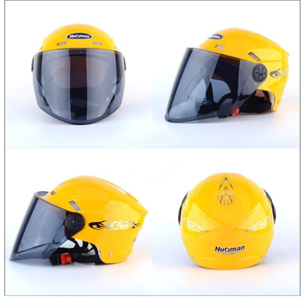 Adecuado Para Cascos Para Hombres Y Mujeres. Amortiguador El/éctrico De La Motocicleta Anti-colisi/ón Flip Casco LINGKY Casco De Montar De Cara Completa
