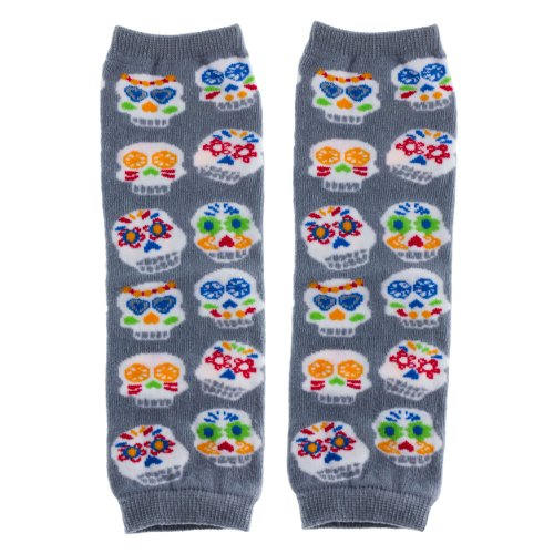 Huggalugs Baby Girl or Boy Skulls Legwarmers Infant Size ()
