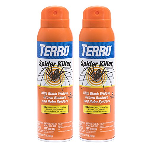 Terro 16 oz. Spider Killer Aerosol Spray - 2 Spray Bottles - Spider Recluse