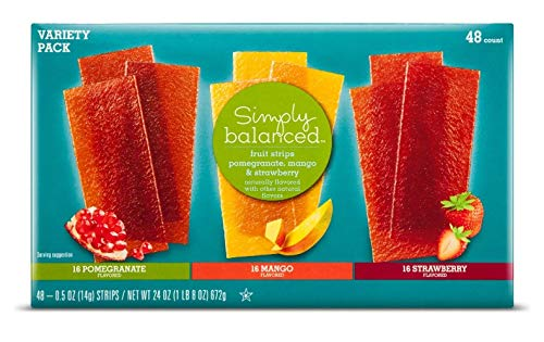 48 Simply Balanced Fruit Strips Strawberry, Pomegranate and Mango by Simply Balanced (Image #1)