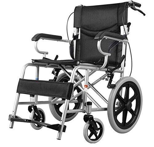 Comfy Go Wheelchair Black - Foldable Lightweight Manual Transport Medical Wheelchair (Black)