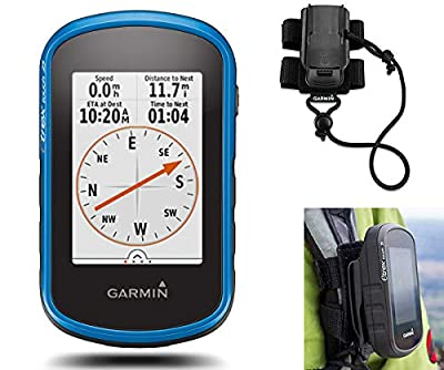 Garmin eTrex Touch 25 GPS Handheld Bundle | with Tether Mount, Protective Case & Screen Protectors | Rugged, GPS/GLONASS, Touchscreen Display