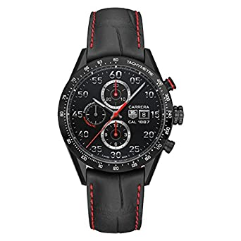 TAG Heuer Mens Carrera Black Titanium Automatic Chronograph Watch