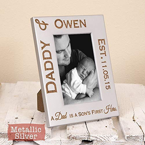 Cheap Dad & Son Frame Personalized – Dad Gift From Son – Son's First Hero