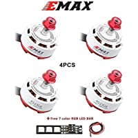 4pcs EMAX RS2306 2400kv 3-4S Brushless Motor 4 Pics CW for RC Racing Drone Multirotor White Edition