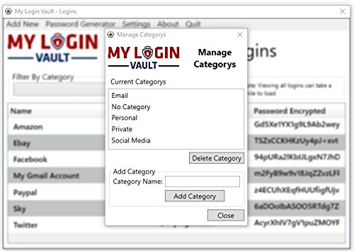My Login Vault - Offline USB Password Manager (Key Ring Style) - Non cloud  solution, Never forget a password again securely store all your passwords
