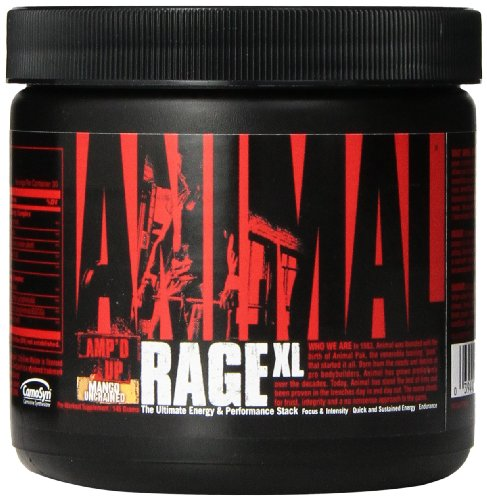 Universal Nutrition Animal Rage XL Supplement, Mango, 145 Gram