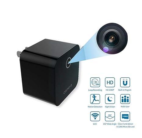 Futursd Cargador USB Mini cámara WiFi Cámara Oculta Portátil ...