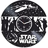 Kovides Star Wars, The Force Awakens, Wall Clock Vintage, Gift for Boyfriend, Vinyl Record Clock, Vinyl Wall Clock, Darth Vader, Star Wars Clock, Wall Clock Moder, Gift For Brother, Star Wars Gift For Sale