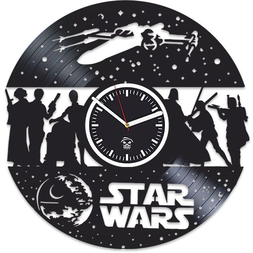 Kovides Star Wars, The Force Awakens, Wall Clock Vintage, Gift for Boyfriend, Vinyl Record Clock, Vinyl Wall Clock, Darth Vader, Star Wars Clock, Wall Clock Moder, Gift For Brother, Star Wars Gift