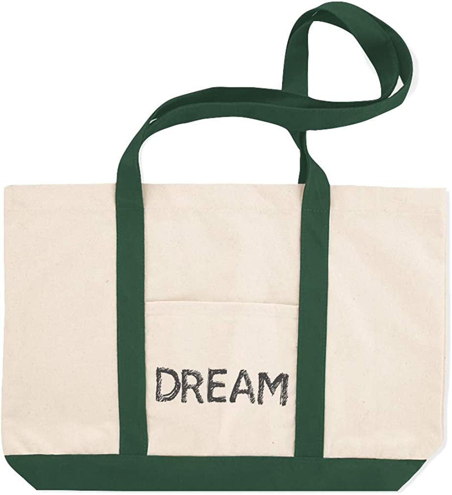Canvas Shopping Tote Bag Dream Feelings Style B Inspiration /& Motivation Dream Word Beach for Women