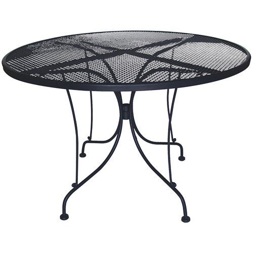 DC America WIT248 Charleston Wrought Iron Table, 48-Inch Diameter by D C America