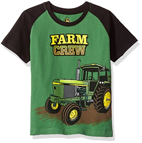 Farm Equipment T-shirt - John Deere Big Boys' Farm Crew Tee, Green/Black, 7