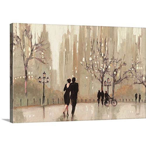 "Julia Purinton Premium Thick-Wrap Canvas Wall Art Print entitled An Evening Out Neutral 30""x20"""