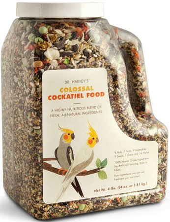 Dr. Harvey's Colossal Blend Natural Food for Cockatiels, 2-Pound Bag, My Pet Supplies