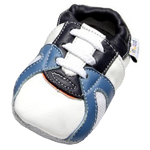 Jinwood designed by amsomo 12 Verschiedene Modelle - Jungen - Maedchen - Hausschuhe - Echt Leder - Lederpuschen - Krabbelschuhe - Soft Sole/Mini Shoes DIV. Groeßen 17/19-35/36 trainer white mini shoes