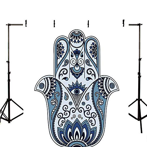 - Hamsa Stylish Backdrop,Mystical Ancient Civilizations Culture Protective Power Luck Evil Eye for Photography,118