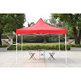 American Phoenix Canopy Tent 10x10 Easy Pop Up Instant Portable Event Commercial Fair Shelter Wedding Party Tent (Red, 10x10)