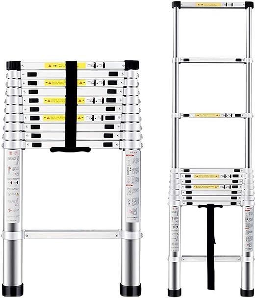 ZR- Escalera Telescópica Aluminio Plegable Escalera De Extensión Certificado EN131, Capacidad Máxima De 330 Lb -Fácil de almacenar y fácil de llevar (Size : 4.4m(14.5ft)): Amazon.es: Hogar