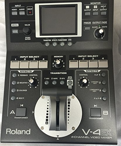 Roland V-4EX 4-Ch Digital Video Mixer with Effects (4 Channel Video Mixer)