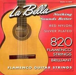 CUERDAS GUITARRA FLAMENCA - La Bella (820) Roja Flamenco (Juego ...