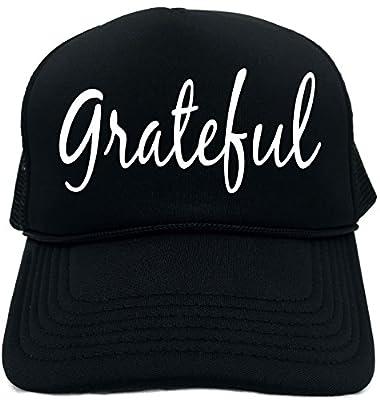 Funny Trucker Hat (GRATEFUL (MOTIVATIONAL CAP)) Unisex Adult Foam Retro Cap