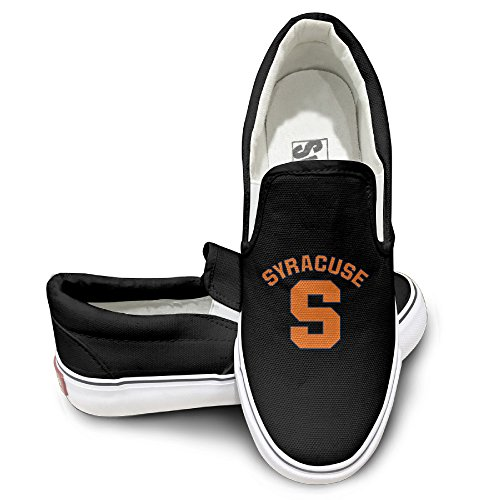 PTCY Syracuse S University Oxford Unisex Flat Canvas Shoes Sneaker 35 Black