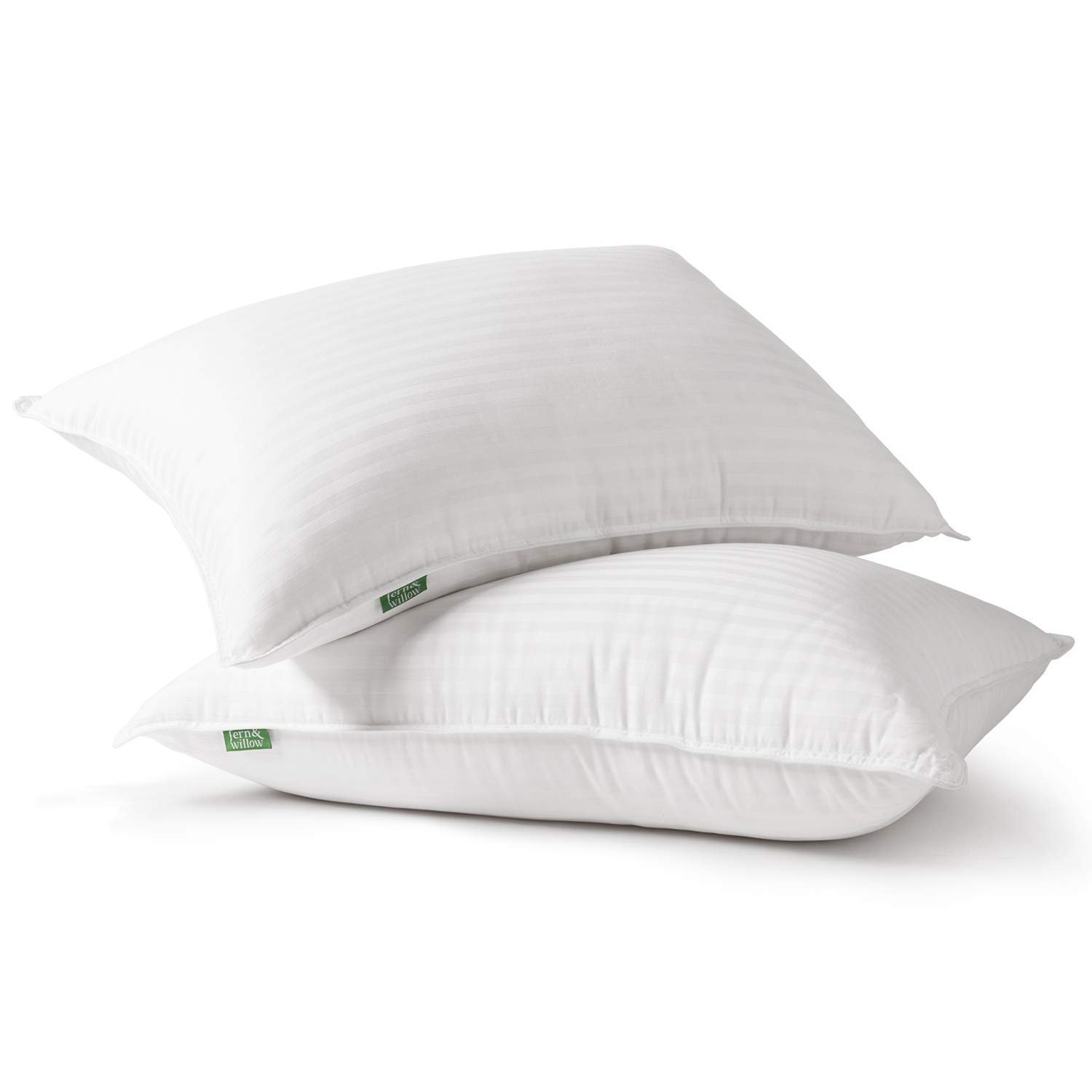 Fern and Willow Premium Loft Down Alternative Pillows for Sleeping (2-Pack) - Luxury Gel Plush Pillow (Queen) by Fern and Willow