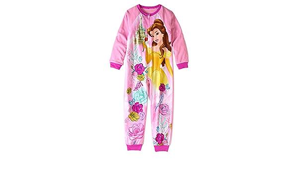 Magical Castle Floral Size 6//6X Fleece Pajama Sleeper Disney Princess Belle