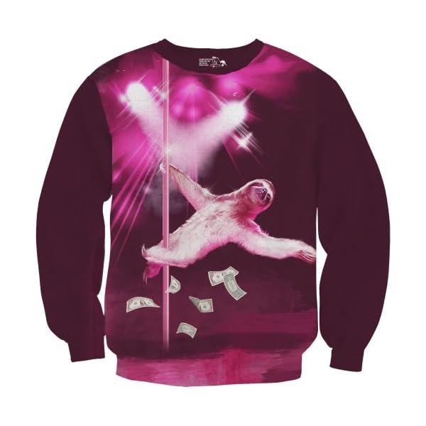 Sharp Shirter Stripper Sloth Sweatshirt -