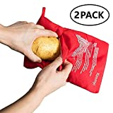 OGOUGUAN Microwave Potato Bag Baked Potato Microwave Baking Bag Perfect Potatoes Just in 4 Minutes! (2 Packs)