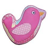 Cozy Line Home Fashions Decorative Pillow, Pink Bird