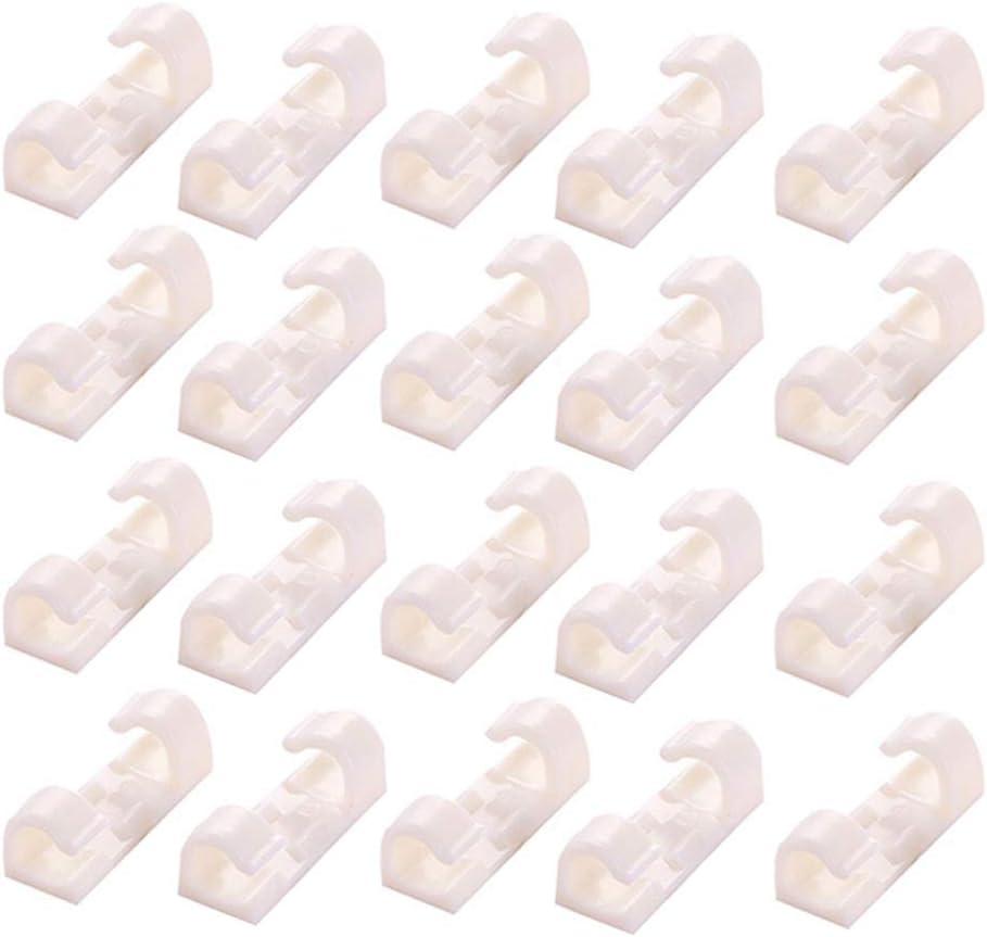 Guajave Lot de 20 clips de rangement pour c/âble de fixation